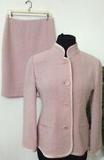 NWT Linda Allard Ellen Tracy Petal Tweed Wool 2 Piece Skirt Suit Size 2 Ret.$498