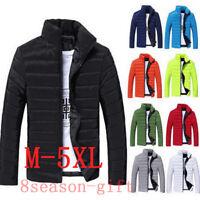 US Hot Men's Winter Hooded Thick Padded Jacket Zipper Slim Outwear Coat Warm New