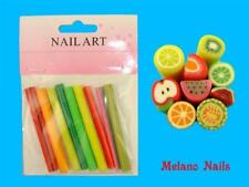 9 Fimo Stangen 5 cm Früchte Nail Art F-14