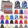 School Drawstring Bag Sports Gym Sack Swimming PE Kit Shoes Sports Backpack UK