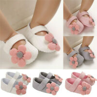 Newborn Baby Toddler Walking Shoes Socks Flowers Girl Princess Soft Anti-Slip