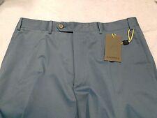 Canali Stretch Cotton Blend Dress Pants NWT 36 waist (unhemmed) $375 Slate Blue