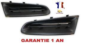 2 x Grilles de calandre pare chocs noires droite et gauche pour Clio 3 III