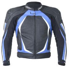 Blousons bleu taille en cuir de vache pour motocyclette