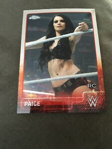 Paige 2015 Topps Chrome WWE Refractors #51
