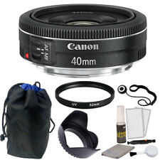 Canon Ef 40mm f/2.8 Stm Lens + 52mm Uv Filter + More Accessories!