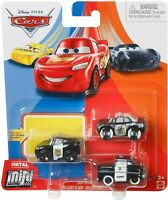 Disney Pixar 3-pack Cars 2021 Metal Mini Racers Sheriff Deputies Series Mc Queen
