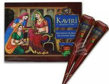 12 Cones NATURAL KAVERI HENNA INDIAN ARABIC HENNA MEHNDI TATTOO CONES  DARKEST