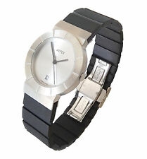 ALFEX 5441 WOMAN WATCH STEEL AND RUBBER 3ATM WR SWISS MADE WRISTWATCH GEORG PLUM