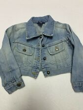 Guc Ralph Lauren Girls Infant/toddler Cropped Denim Jacket Size 3/3T