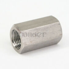 """1/8"""" BSP Female 304 Stainless Steel Hex Nut Rod Pipe Fitting Connector Adapter"""