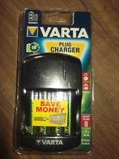 Varta Plug Battery Charger + 4 x AA Ready2Use Batteries