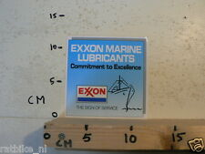 STICKER,DECAL EXXON MARINE LUBRICANTS COMMITMENT TO EXCELLENCE SCHIP