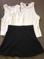 New Miss Shop Skirt Size 12, Bardot Top 12, Large Lace Up Top