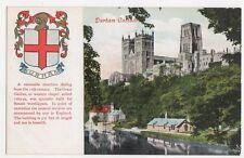 Durham Cathedral, Heraldic Coat of Arms Postcard, B290