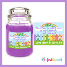Personalised Nursery Teacher Thank You Candle Label