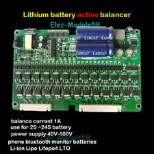 Li-ion Lipo Lifepo4 LTO Battery Active Equalizer 1A Balance 2S~24S BMS APP Board