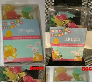 Easter Bunny LED Fairy String Lights,  (3ft, Battery Operated)