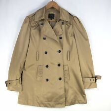 Portmans Camel Trench Coat Jacket Size 14 Double Breast Pockets Buttons Work