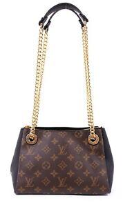 LOUIS VUITTON Monogram Canvas & Black Leather SURENE BB Chain Strap Bag