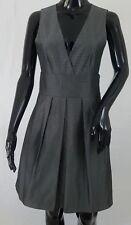 Theory Deanne Silence Jacquard Tank Dress Size 8 Gray Sheen Lined Side Pockets