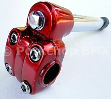 "Old school BMX Suntour style 21.1mm quill stem 22.2mm (7/8"") handlebars - RED"