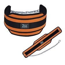 2Fit™ Dipping Belt Weight Lifting Body Building GYM Exercise Metal Chain New