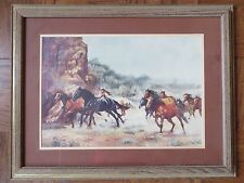 Patricia McAllister Print Limited Edition 158/250 Wild Horses Running Framed