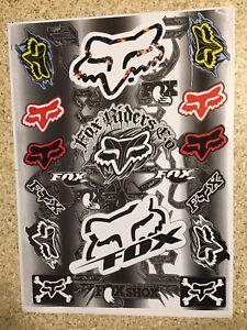 VANS/FOX 2 Pack Mx stickers decals graphics Sheet waterproof motocross Ktm