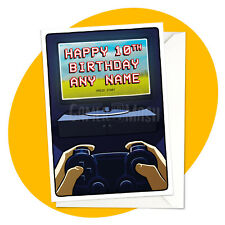 Night Gamer - PERSONALISED BIRTHDAY CARD - personalized console switch xbox ps4