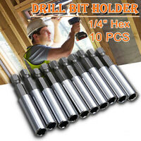 10pcs Socket Bit Adapter Magnetic Bit Extensions Holder Bar Drill Nut Driver Hex