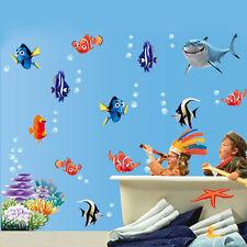 Fish Finding Nemo Underwater Kids room decor Wall sticker Wallpaper wall decals