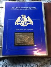 Great Firsts In Aviation Commonwealth Of Dominica 23 Karat Gold Stamps
