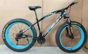 """Fat Tyres 26"""" Mountain Bike 21 Gear Speed Frame Strong Suspension Carbon Frame"""