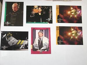 1998 Babylon 5 Season 4 INSERT CHASE 6 CARD LOT! S8 V8 F4 FOREIGN LANGUAGE!!
