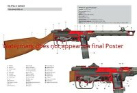 PPsh-41 Soviet submachine gun Poster Patent Print WWII WW2 Russian Assault Rifle