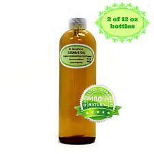 Premium Organic Cold Pressed Sesame Oil Unrefined Toasted Seeds 2 oz up to 7 LB