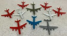 Lot of 10 Plastic Toy Airplanes B747 L1011 DC8 DC9 Air Canada TCA Super Constell
