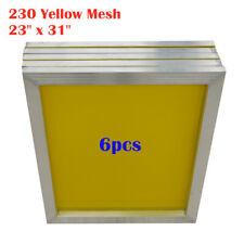 Usa Aluminum Silk Screen Frame 230 Yellow Mesh 23 X 31 6pcs