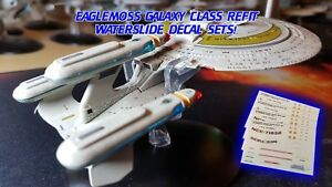 GALAXY CLASS REFIT MIRROR BROKEN DECALS - Star Trek Starships EAGLEMOSS NO MODEL