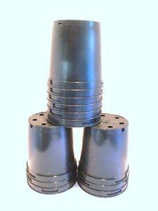 2 LITRE PLASTIC PLANT POTS x15  Good quality plastic plant pots.X 15
