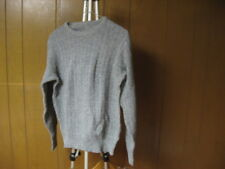 Vintage Men's Gray Grey M Medium Sweater Long Sleeve Cotton or Wool Knit Style
