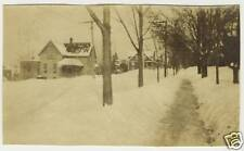 Antique Photo Snow Storm And Houses Ithaca New York NY