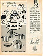 PUBLICITE ADVERTISING  1966   UGINOX batterie de cuisine par JACQUES FAIZANT