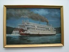 """Delta Queen At Night"" by Dorothea Frye from 1960's"