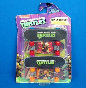 Teenage Mutant Ninja Turtle 4 Fingerboards Skateboards Turtle Trick Boards NIP