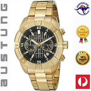 Invicta Men's 21470 Specialty Japanese Quartz Gold-Plated Chronograph Watch
