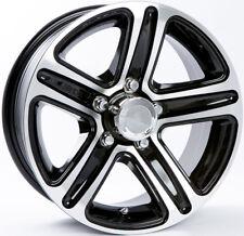 "TWO (2) Aluminum Sendel Trailer Rims Wheels 5 Lug 13"" T09 Black Style"