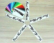 5x Personalised Custom Alloy Wheel Stickers Vinyl Decal Adhesive Logo BLACK