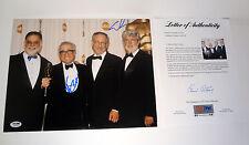 GEORGE LUCAS & MARTIN SCORSESE DUAL SIGNED AUTOGRAPH 11X14 PHOTO PSA/DNA COA
